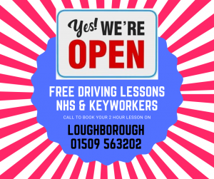 Loughborough free driving lessons NHS keyworkers 2020
